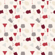 Stock Photo: Seamless background pattern of retro alcoholic glass.