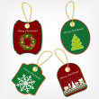 Set of Christmas stickers vector illustration — Stockfoto