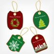 Set of Christmas stickers vector illustration — Stock Photo