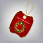 Christmas label vector illustration — Stock Photo