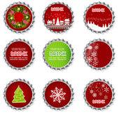 Set of bottle caps.vector illustration — Stock Photo