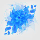 Romantic Flower vector Background — 图库照片
