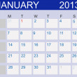 Calendar 2013. January. Vector Illustration - Stock Photo
