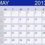 Calendar 2013. May. Vector Illustration — Stock Photo