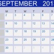 Calendar 2013. September. Vector Illustration — Stock Photo
