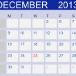 Calendar 2013. December. Vector Illustration — Stock Photo