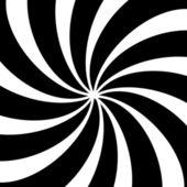 Noir et blanc fond hypnotique. — Photo