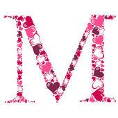 Алфавит сердца векторные иллюстрации — Стоковое фото