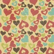 Valentine seamless hearts pattern — Foto Stock