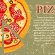 Pizza Menu Template in vintage retro grunge style — 图库照片