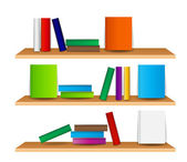 Bookshelf with books vector illustration — Stock Photo