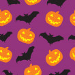 Halloween-nahtlose Muster-Hintergrund-Vektor-illustration — Stockfoto