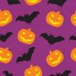 Halloween seamless pattern background vector illustration — Stock Photo