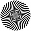 Black and white hypnotic background. vector illustration — Stockfoto