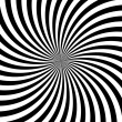 Black and white hypnotic background. vector illustration — Stock Photo #12341426