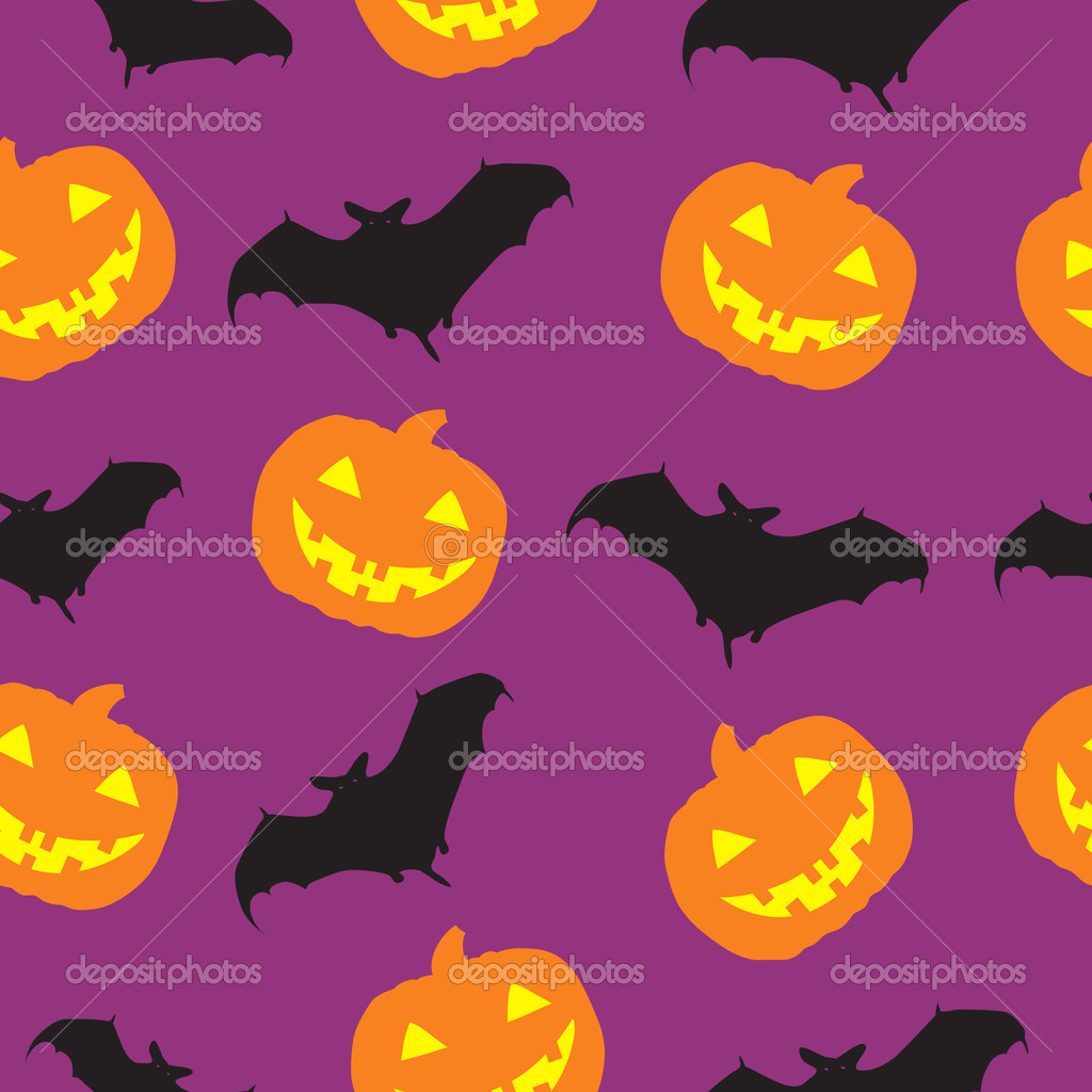 Halloween seamless pattern background vector illustration  Stock Photo #12341270