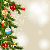 Abstract beauty Christmas and New Year background. Vector illust — Stock Photo