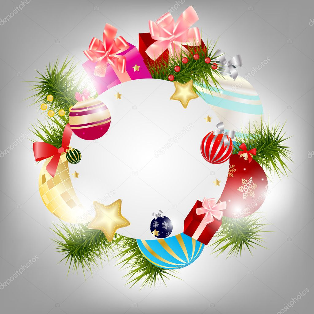 Abstract beauty Christmas and New Year background. Vector illustration — Stock Photo #12376026