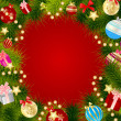 Abstract beauty Christmas and New Year background. Vector illust — Foto de Stock