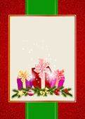 Abstract beauty Christmas and New Year invitation background. Ve — Stock Photo