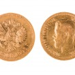 Old gold coin of Russia — Stock Photo