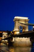 ハンガリー、ブダペスト チェイン ブリッジの夜景 — ストック写真