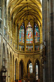 Interior of St. Vitus Cathedral in Prague — Stock Photo