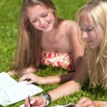Study outdoors — Stock Photo