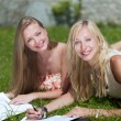 Study outdoors — Stock Photo