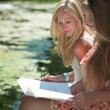 Study outdoors - Stock Photo