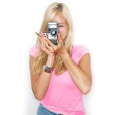 Say cheese! vintage camera — Stock Photo