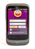 HTC SHOWING YAHOO MESSENGER — Stock Photo