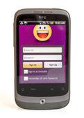 HTC SHOWING YAHOO MESSENGER — Stock Photo