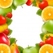 Frame made of fresh, juicy fruit. Vector. — Stock Vector #11601690