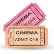 Stock Vector: Two cinemtickets