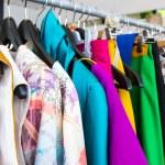 Fashion clothing on hangers — Stock Photo #11820042