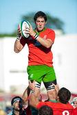 Niet-geïdentificeerde rugbyspelers — Stockfoto