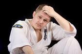 Fighter karate — Stock Photo