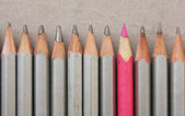 Pencils row — Stock Photo