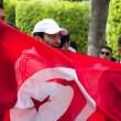 Protest in Tunisia - Stockfoto