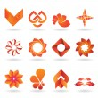 Contemporary Orange Logo and Icon Collection — Stock Vector