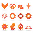 Contemporary Orange Logo and Icon Collection — Stockvektor