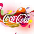 Coca-Cola Logo Illustration — Stock Photo