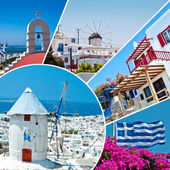 The beautiful Greek island, Mykonos — Stock Photo