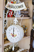 Elegant artistic clock — Stock Photo