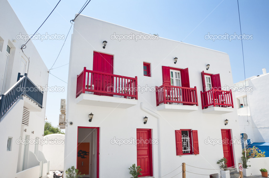 La bellissima isola greca, mykonos — foto stock © enginkorkmaz ...