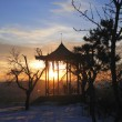 Chinese arbor. North Caucasus landmarks. Winter Pyatigorsk — Foto de Stock
