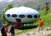 Kolem ufo přistání mezi kavkazu — Stock fotografie