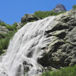 Alibek waterfall. Dombay mountains. The Northern Caucas — Stock Photo