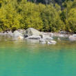 Stock Photo: Baduk lakes of Teberdand Dombai
